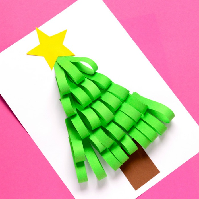 Christmas Tree Made Out Of Paper: 25 Christmas Tree Crafts For Kids