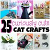 25 Curiously Cute Cat Crafts For Kids