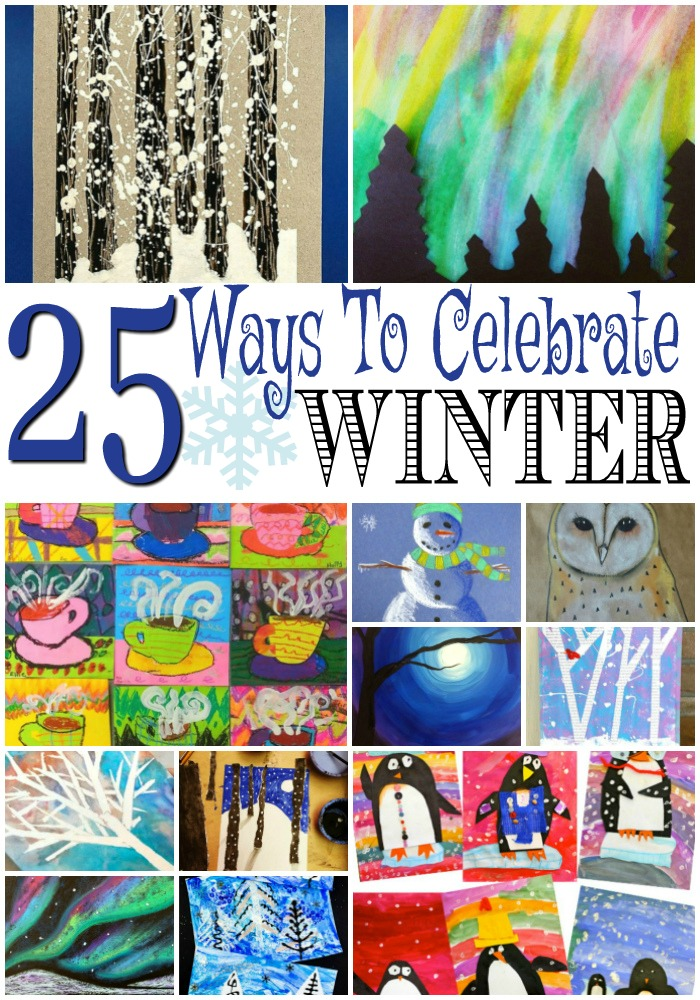 25 Celebrate Winter Art Projects For Kids
