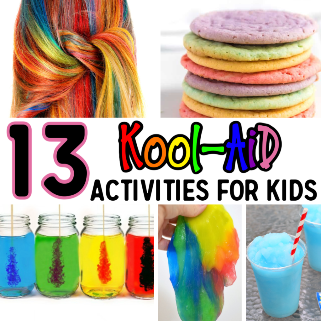 Get creative with these 13 Kool-Aid Activities For Kids