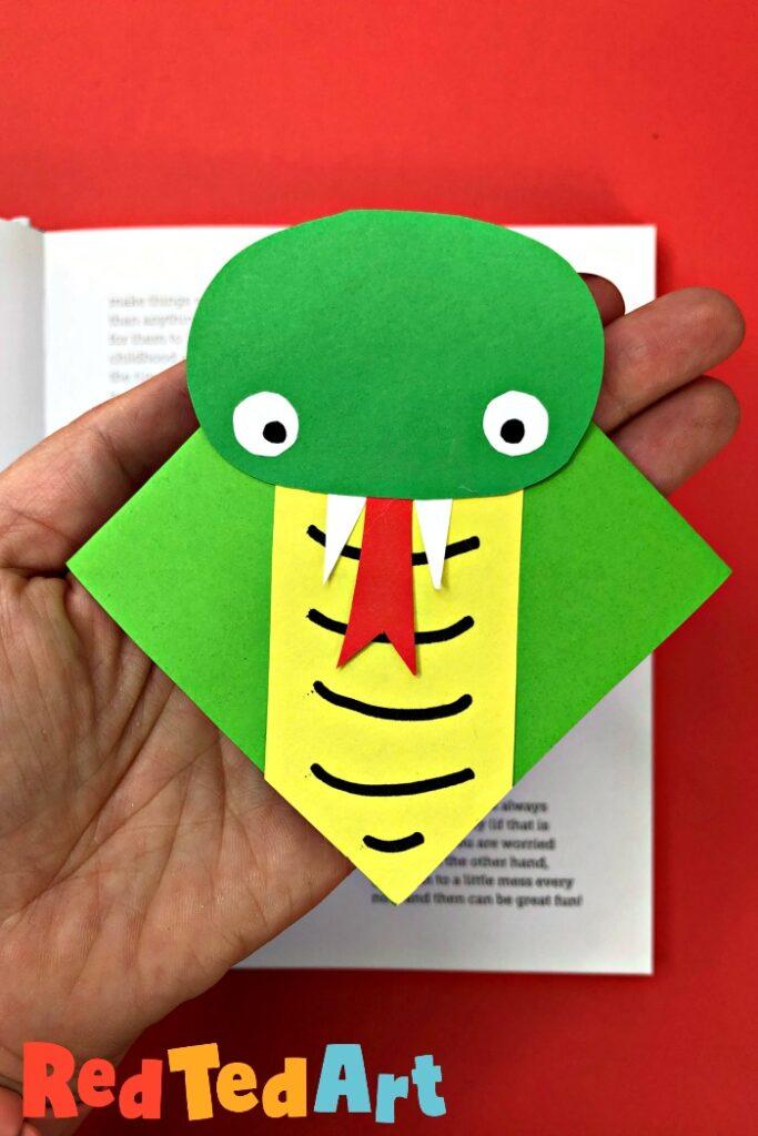 Snake book mark craft