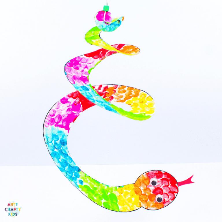 finger print snake craft for kids